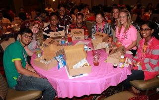 Grad Camp 2014- campers eating lunch