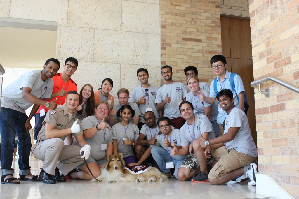 Grad Camp 2014- students with Reveille