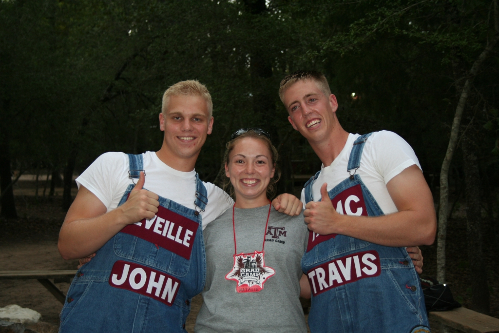 Grad Camp - Camper with Yell Leaders