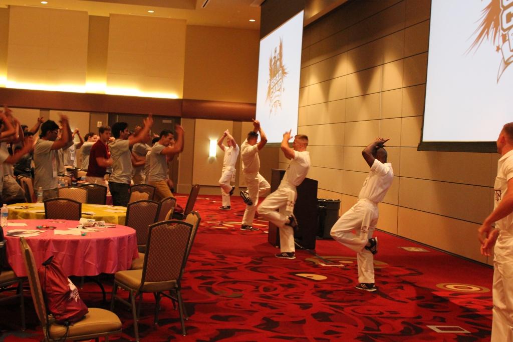 Grad Camp 2014 - Yell Practice