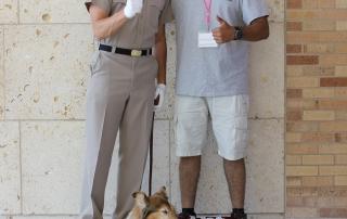 Grad Camp 2014 - Camper with Rev and Handler